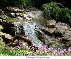 waterfall-stone-rocks-pond