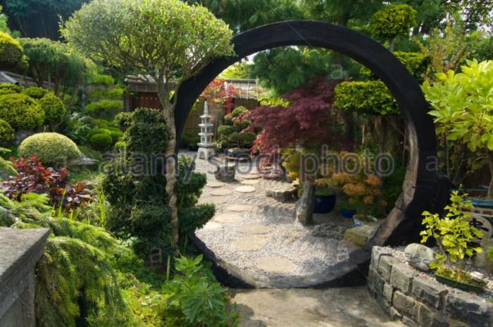 Porte japonaise forum bassin Deco japonaise exterieur