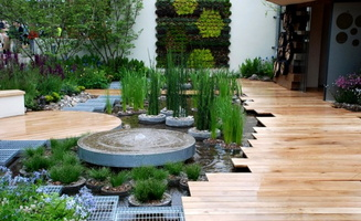 05. RBC-Blue-Water-Roof-Garden-•Designed by Professor Nigel Dunnett & The Landscape Agency.•Built by Landform Consultants